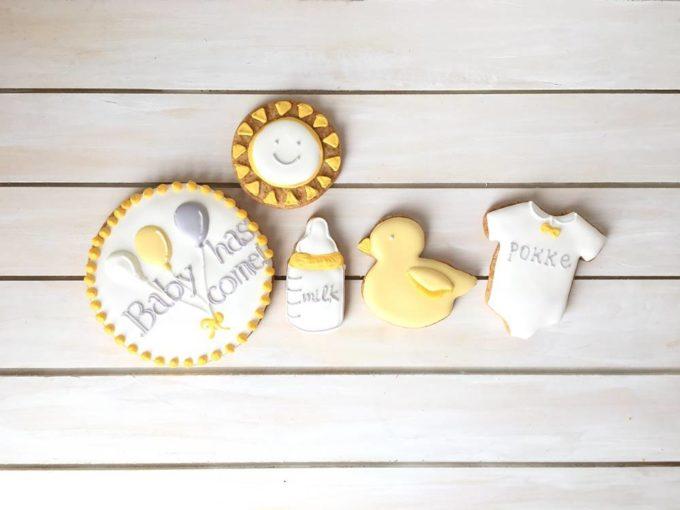 「Canvas Cookies(キャンバスクッキー)」の可愛いアイシングクッキー、ベビー