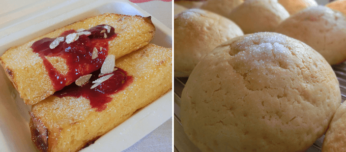 「新潟地粉パンの店 cosa」のグルテン控えめのパン、フレンチトースト、メロンパン