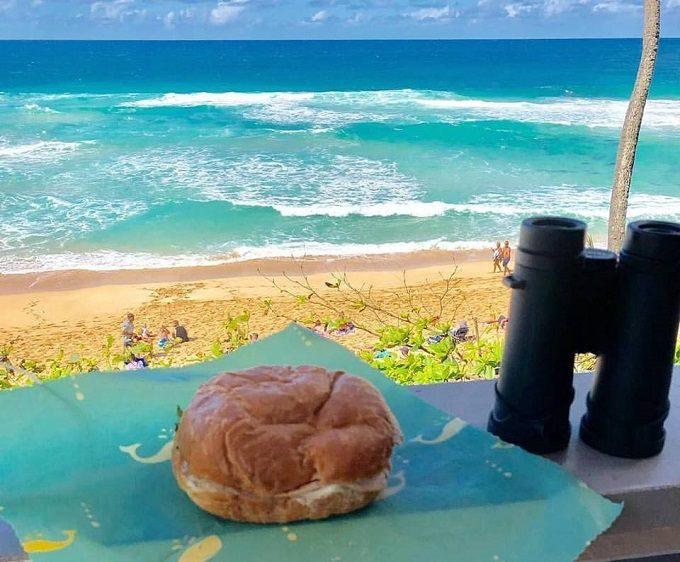 ハワイの海と「Bee's Cotton Wrap(ビーズコットンラップ)」のエコラップ