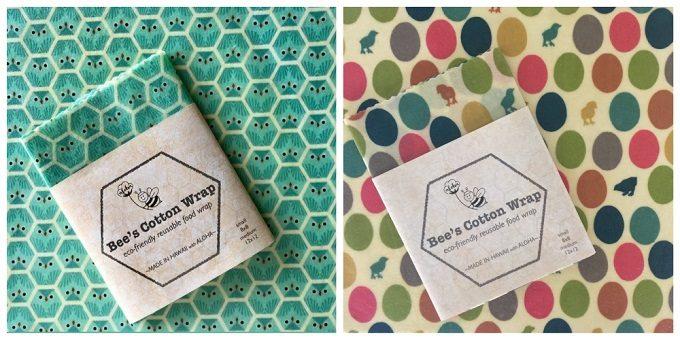 柄が可愛い「Bee's Cotton Wrap(ビーズコットンラップ)」のエコラップ