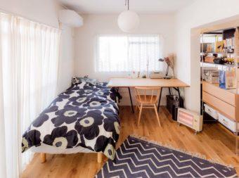 ワンルームは仕切りインテリアで快適に。一人暮らしのお部屋実例