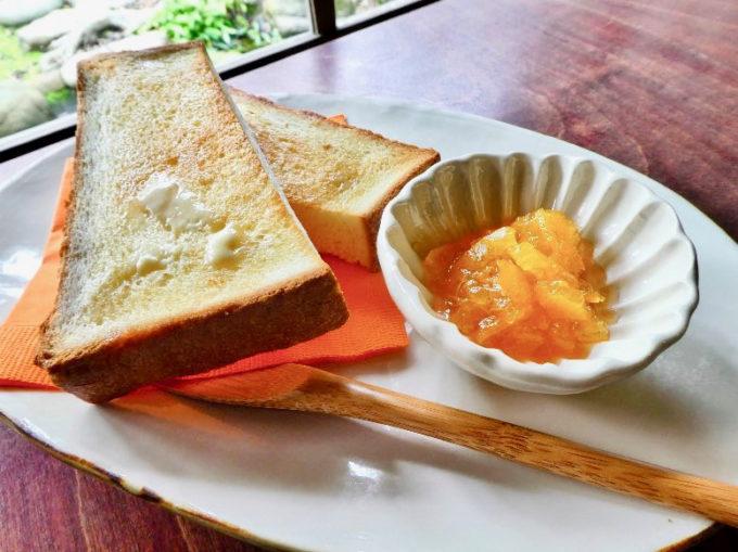 山口県萩市の雑貨カフェ「晦事(ことこと)」のおすすめメニュー「マルマレットトースト」
