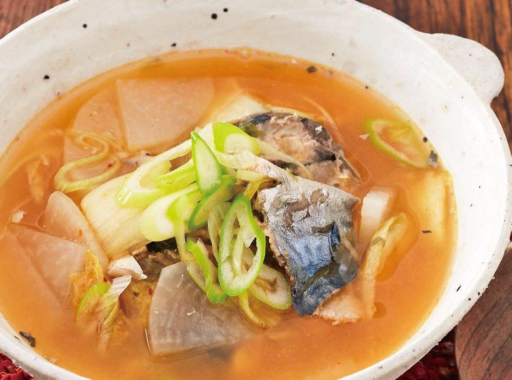 鯖缶 味噌汁