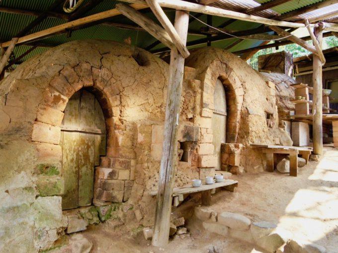 窯元「大屋窯」の焼成釜
