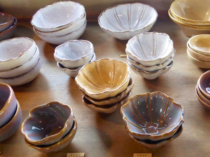 窯元「大屋窯」の萩焼の器、小鉢2