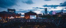 GWにおすすめの野外映画イベント「シーサイドシネマ」の会場風景1