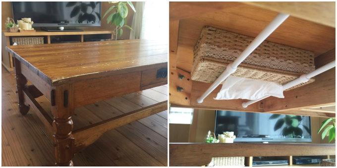 つっぱり棒を使ったキッチン&テーブル周りのスッキリ収納術3