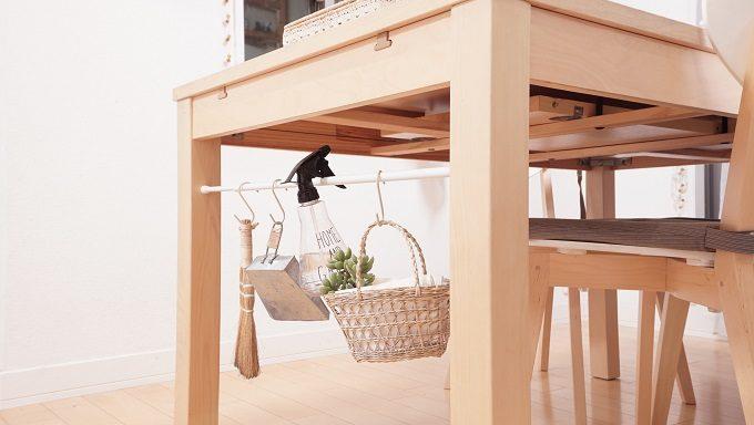 つっぱり棒を使ったキッチン&テーブル周りのスッキリ収納術4