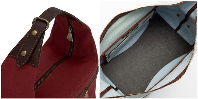 大人女子におすすめ「UPLA」のコンパクトなバッグ「ウプラ ジゴーニュ」を上から見たところ