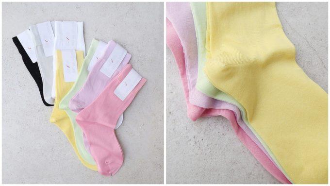 レインシューズにおすすめの「decka quality socks デカクォリティソックス」カラフルな靴下