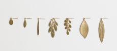 「プフッツェ」のジュエリー、葉っぱのピアス1