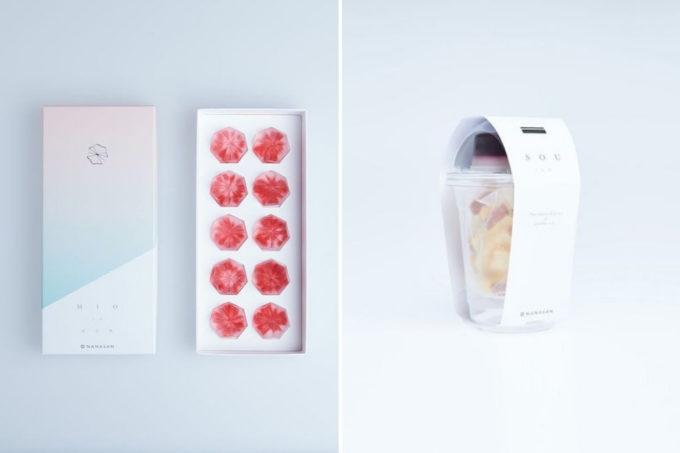 和菓子ブランド「NANASAN(ナナサン)」のアドベリーを使った和菓子のパッケージ