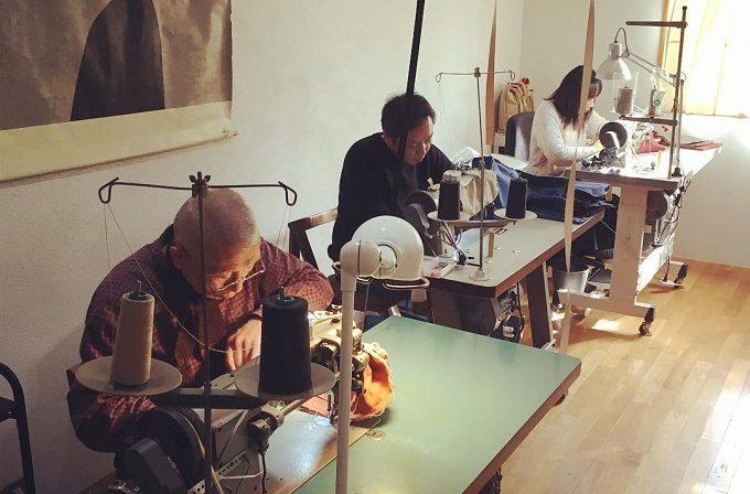 須田帆布のバッグの製造工程