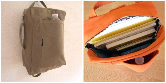 シンプルで機能性も抜群な「須田帆布」のリュックのポケット