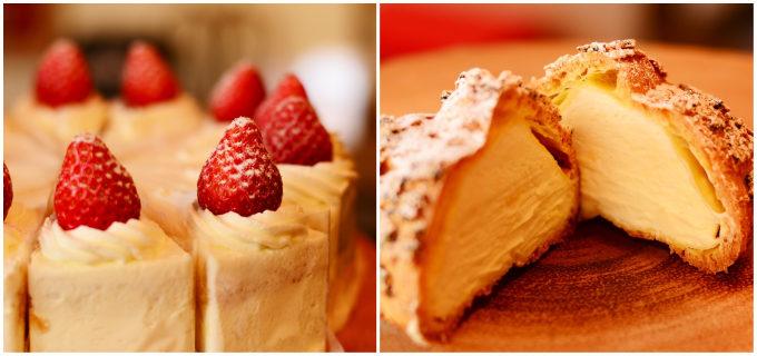 ヤギミルクを使った洋菓子専門店「PATISSERIE LAIT DE CHEVRE(パティスリー レ・ド・シェーブル)」のショートケーキとシュークリーム