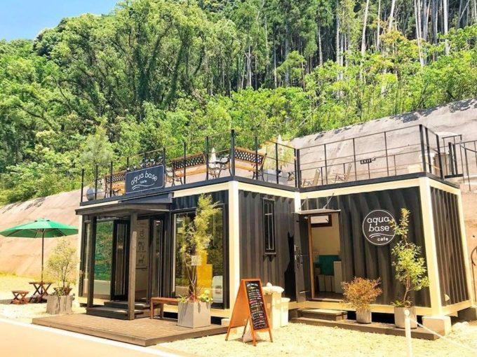 鹿児島県南大隅町のおしゃれなカフェスペース「aqua base cafe(以下、アクア ベースカフェ)」外観1