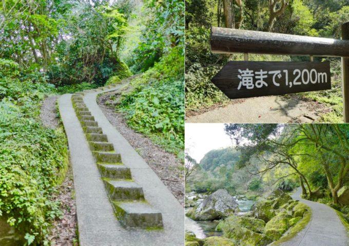 鹿児島県南大隅町のパワースポットが「雄川の滝」に続く道