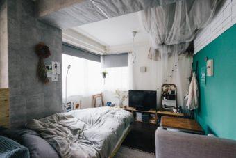 ワンルームもメリハリをつければ快適に。DIY女子直伝、型にはまらない自由なお部屋作り
