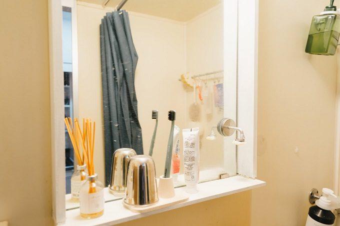 DIY女子の作ったおしゃれなワンルーム実例、洗面周りのアイデア