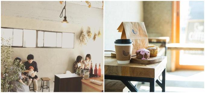 富山市の「kotori coffee」の店内写真