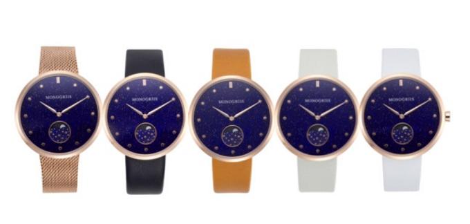 「monogriis(モノグリース)」の腕時計「jaybee line」、ベルトのカラーバリエーション