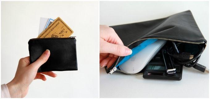 「ENVELOPE」のシンプルで使いやすい革小物、ポーチ「CASE」