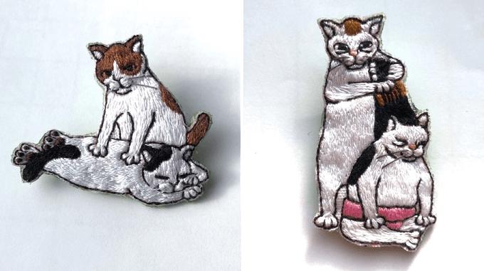 「にゃん吉ドーナツ」の猫ブローチ4