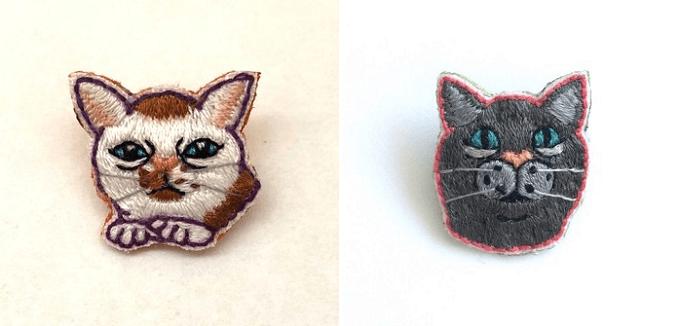 「にゃん吉ドーナツ」の猫ブローチ5