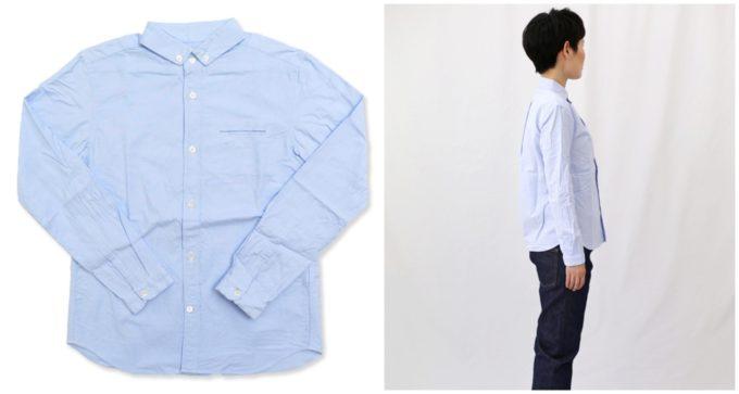 オフィスにもおすすめの「AIR ROOM PRODUCTS エアルームプロダクツ」の襟付きシャツ