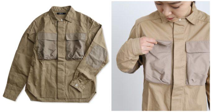 オフィスにもおすすめの「LOLO ロロ」の襟付きワーク風シャツ