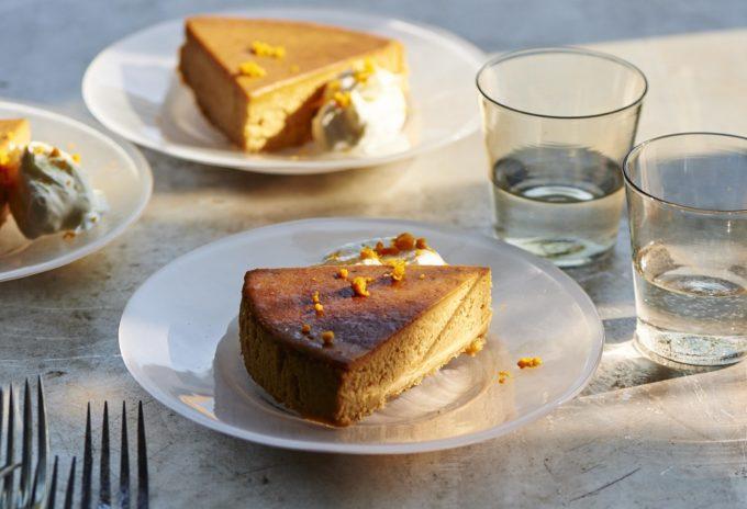 「ほうじ茶、オレンジ、キャラメルのチーズケーキ」レシピ1