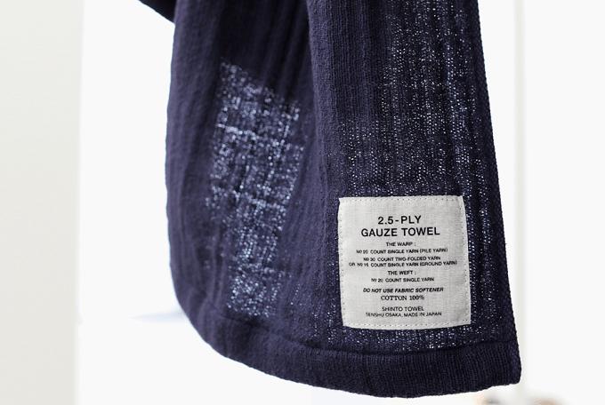吸水性&肌触りに優れた「SHINTO TOWEL」のふんわりタオルのタグ