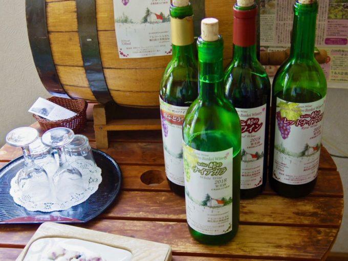 札幌ブランド「ばんけい峠のワイナリー」のビオワインのボトル