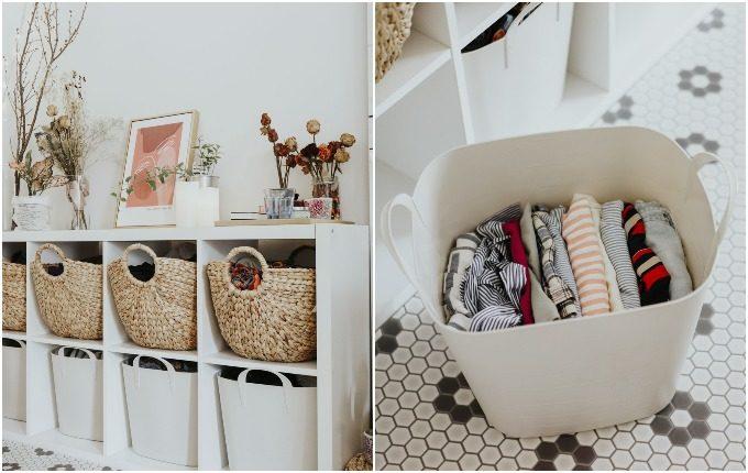 クローゼットのない部屋の収納方法実例5