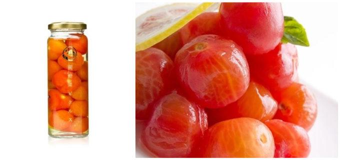 山口県の萩の地元野菜を使った瓶詰めの「萩野菜ピクルス」、「プチトマトsweetハニーシロップ」
