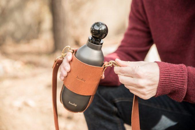 保冷・保温に優れたおしゃれなマイボトル「Hashy Bottle」専用のレザーストラップ