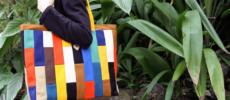帆布のパーツが集まって生まれる美しい模様。暮らしを明るく彩る「jiyoh」のトートバッグ