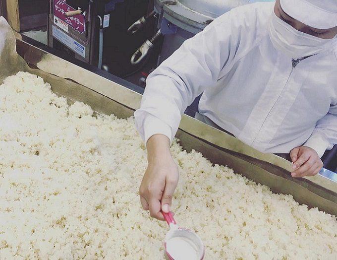 「カネサオーガニック味噌工房」の製造過程
