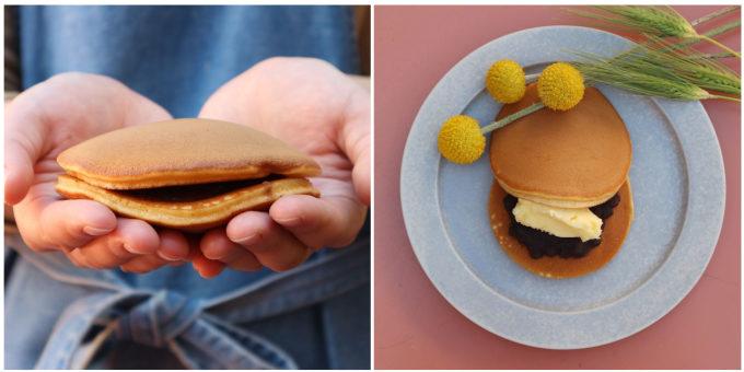 群馬県前橋市の和菓子屋「なか又」のどら焼き「わぬき」、「つぶあん」と「あんバター」