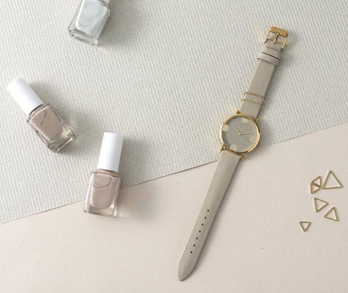 ニュアンスカラーが上品な「nuwl」の腕時計3