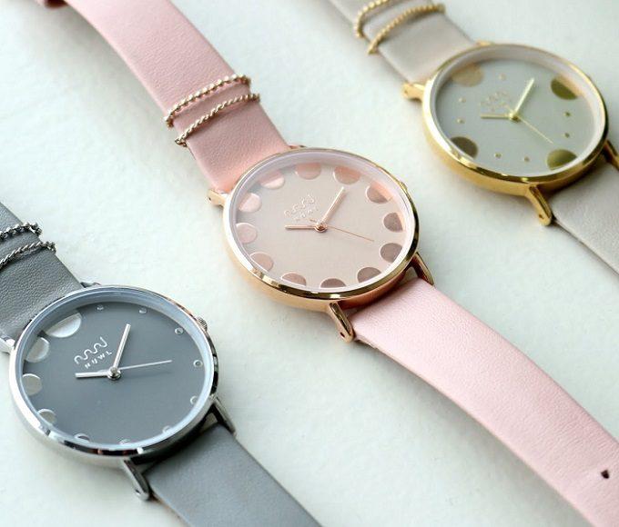 ニュアンスカラーが上品な「nuwl」の腕時計4