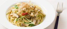 「オリーブオイルとさば節の和風ペペロンチーノ」のレシピ1