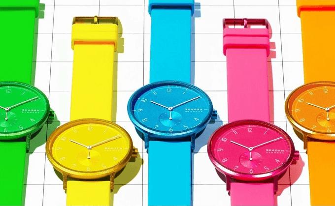 夏におすすめ、「SKAGEN(スカーゲン)」のネオンカラーの腕時計2