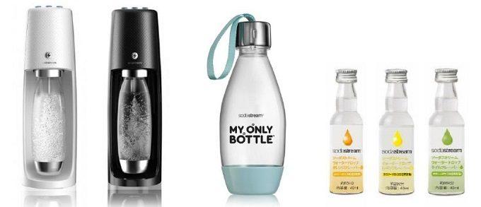 炭酸水メーカー「ソーダストリームスピリットワンタッチ」と新商品のマイボトルなど