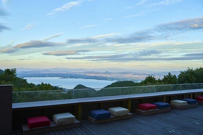 「比叡山やくばらい散歩・夏」旅 星野リゾート ロテルド比叡の景色