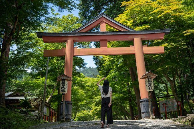「比叡山やくばらい散歩・夏」旅 日吉大社前