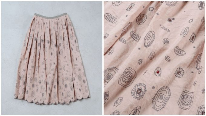 mina perhonen(ミナペルホネン)のロングスカート