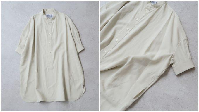おすすめのシャツ「COTTON LINEN GABA HALF SLEEVE ROOMY SHIRT」