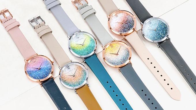 スワロフスキーを使用した「ALETTE BLANC(アレットブラン)」の腕時計