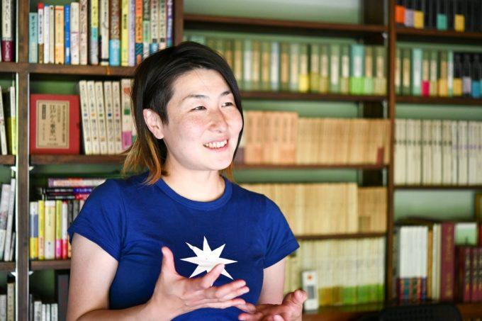 地域計画学研究者・江口亜維子さんが話す様子